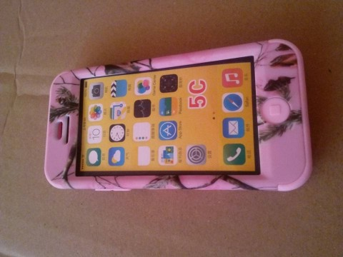 Carcasa tip husa IPhone 5C - 3 piese, protectie fata, spate