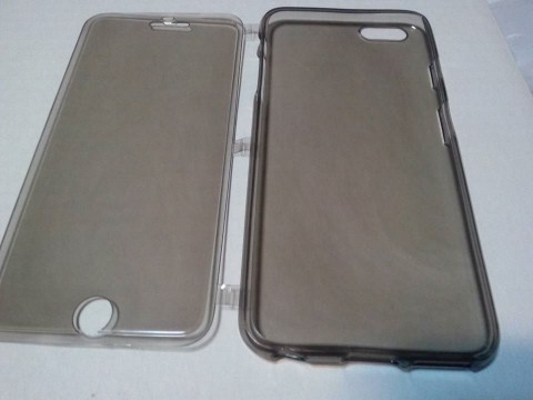 Husa protectie carcasa iPhone 6 Plus - Flip Cover, silicon TPU