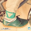 Wide pants strap * EMERALD GREEN  * single strap