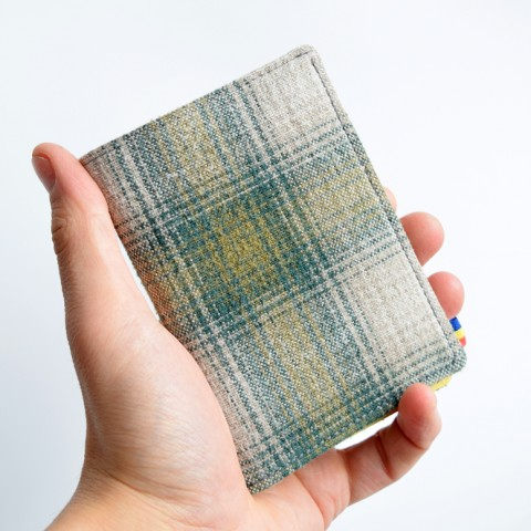 Portofel TALL·ON din textil verde tartan
